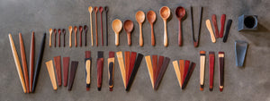 Entire Earlywood product line of wooden spoons and spatulas for cooking