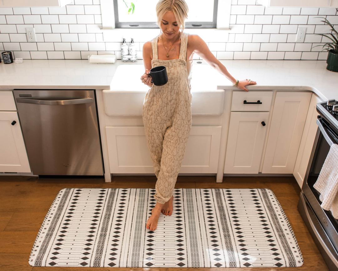 Stylish mat made in US for kitchen