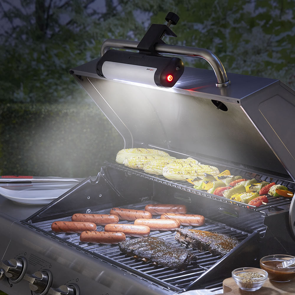 Lights for barbecue griller