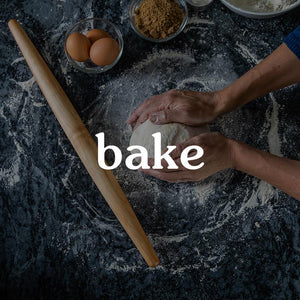 wood rolling pins and other baking accessories
