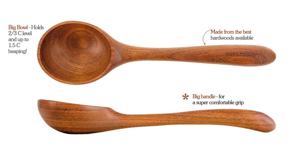 Earlywood wood ladle in jatoba - features