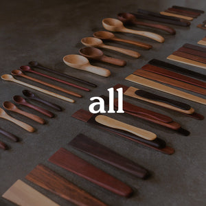 Earlywood Designs entire wooden kitchen utensil product line