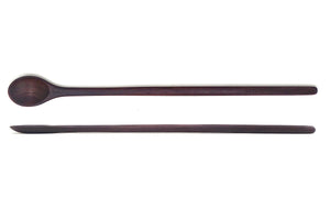 black ebony thin long handled wood tasting spoon - Earlywood