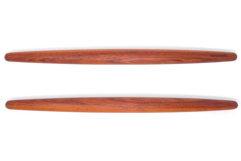 thin wood rolling pin french taper - jatoba Earlywood