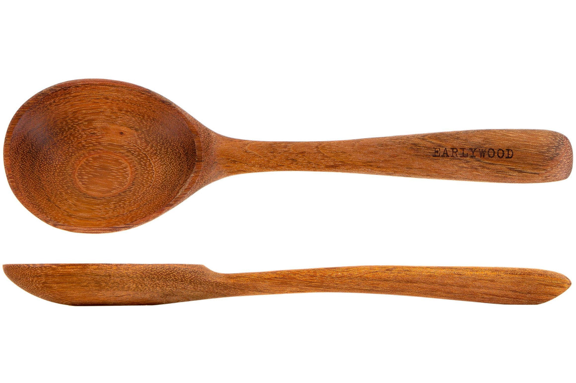 dark brown wooden buffet serving spoon jatoba - earlywood