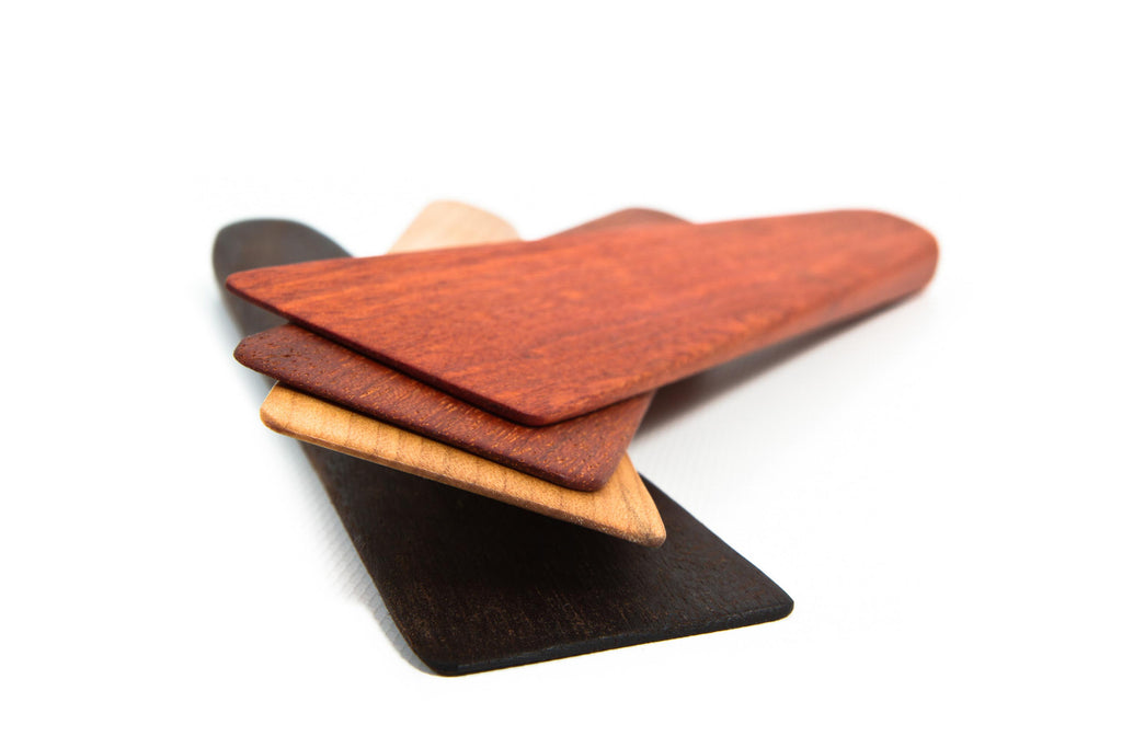 stack of modern wooden spatulas from earlywood