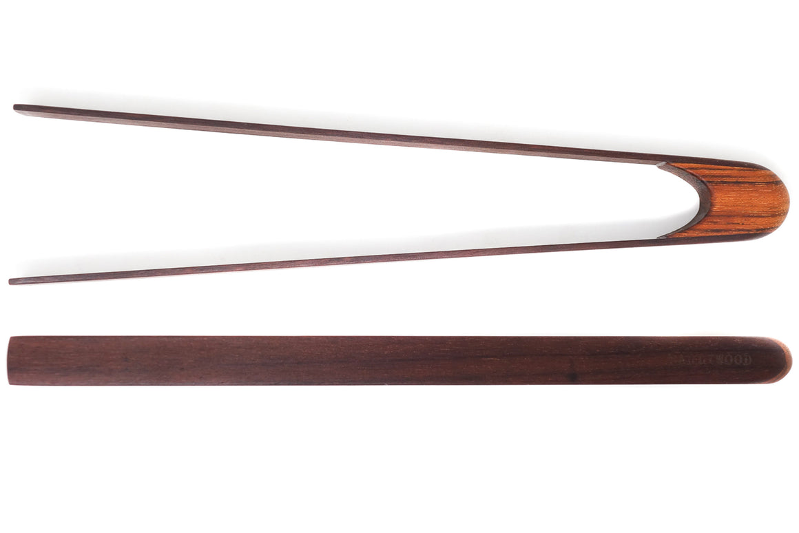 wooden salad tongs - ebony/jatoba - Earlywood