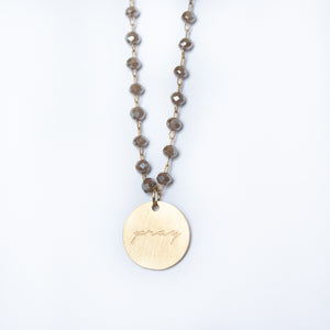 Serenity Stone Beige Necklace