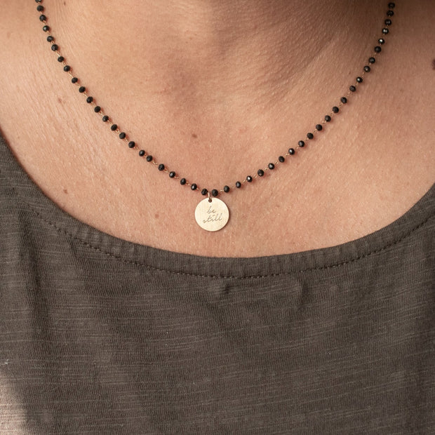 Serenity Stone Black Necklace 1