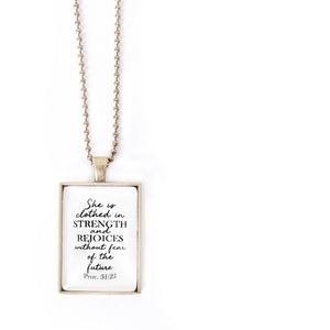Clothed In Strength Necklace