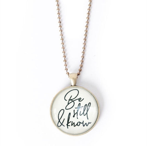 Be Still and Know Necklace by The Vintage Sparrow