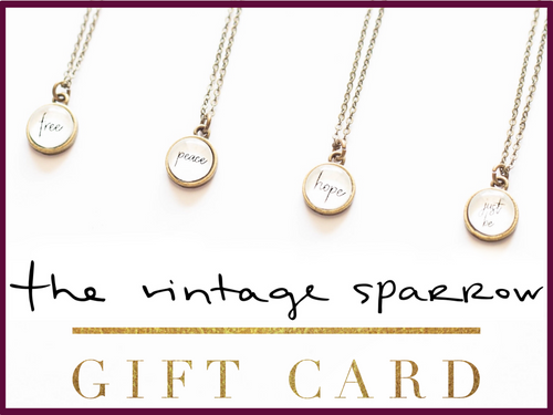 Vintage Sparrow Gift Card