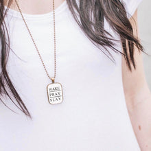 Load image into Gallery viewer, Wake Pray Slay Necklace