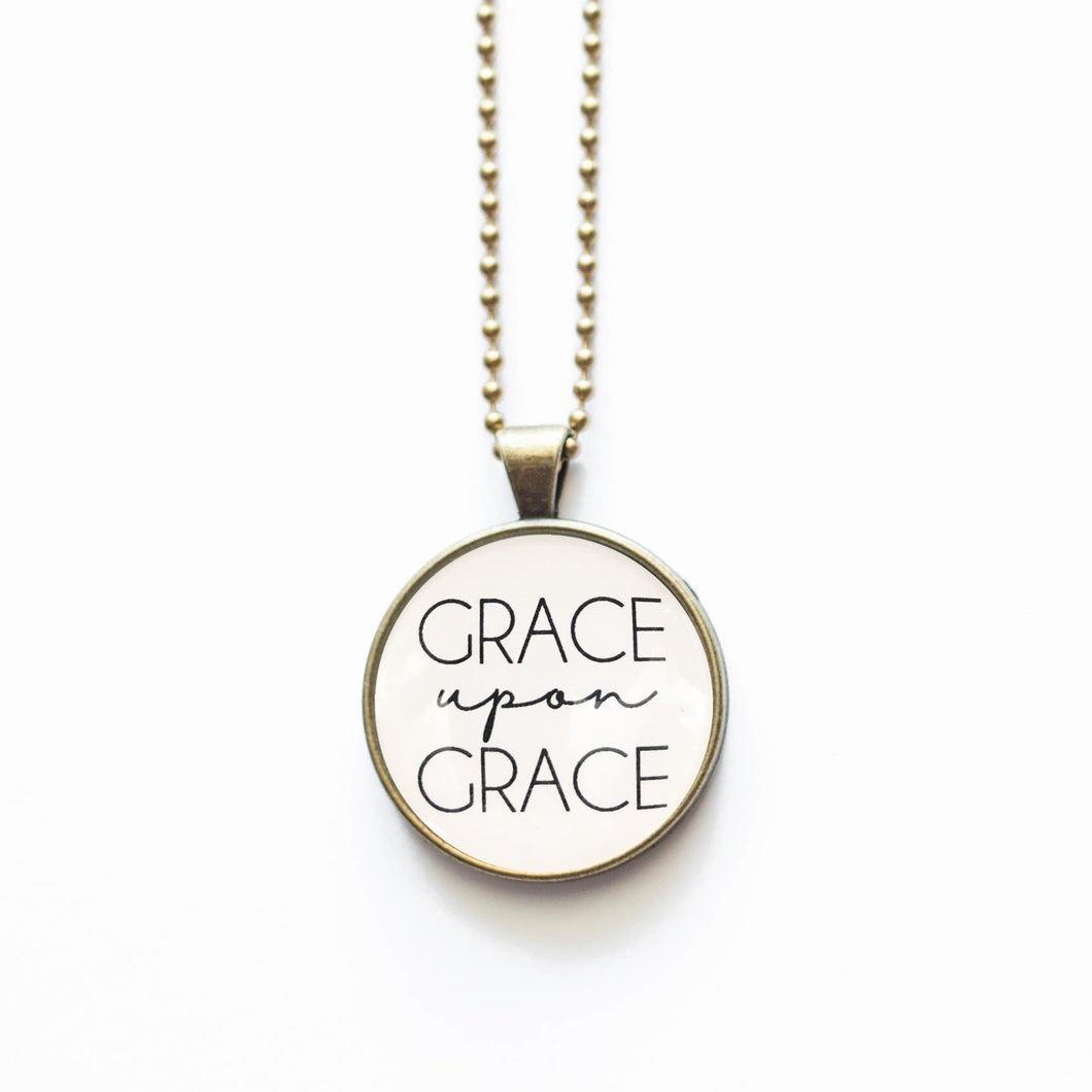 Grace Upon Grace Necklace by The Vintage Sparrow