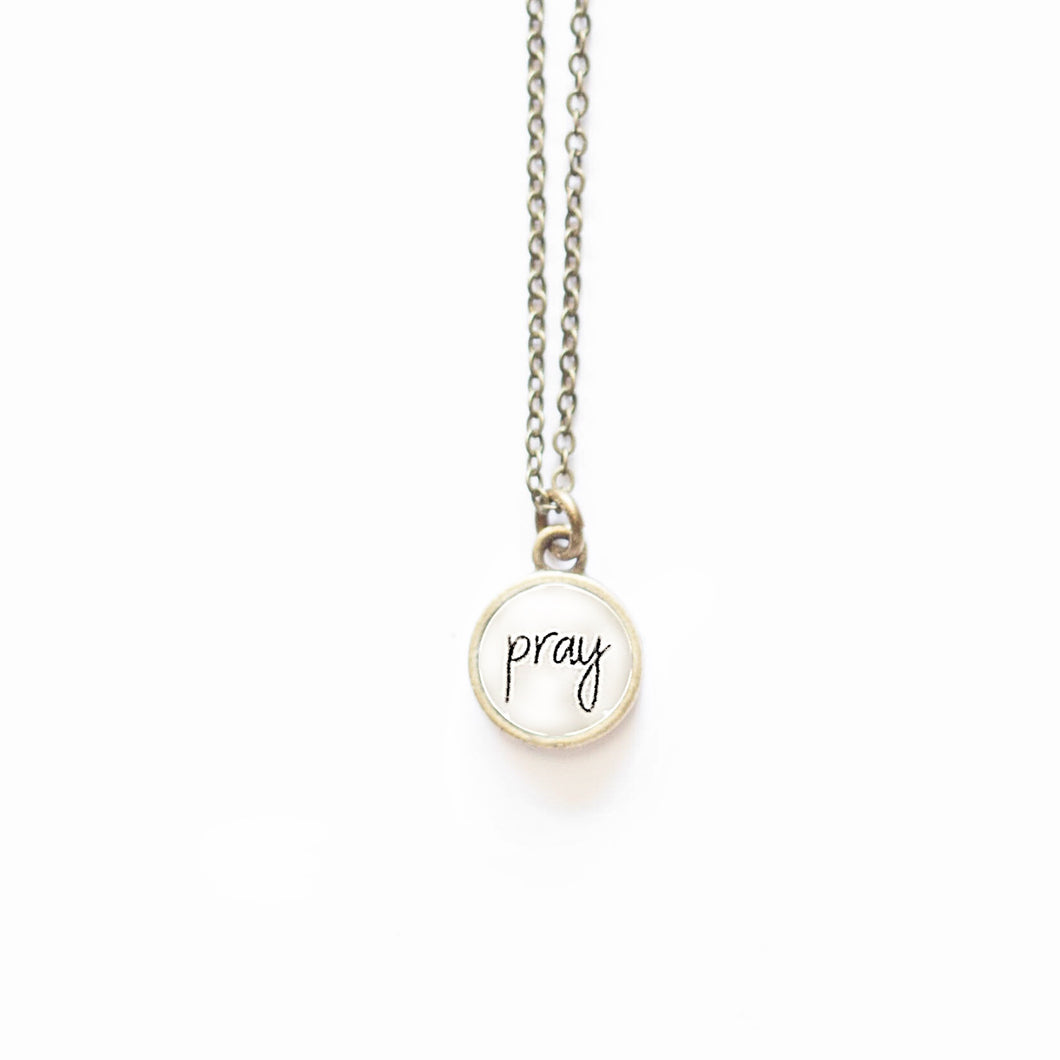 Pray Necklace by The Vintage Sparrow