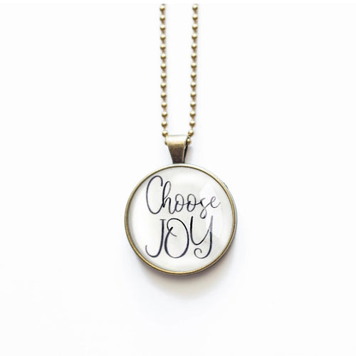 Choose Joy Necklace by The Vintage Sparrow