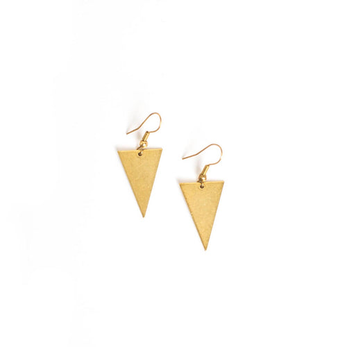 Tri Brass Earrings