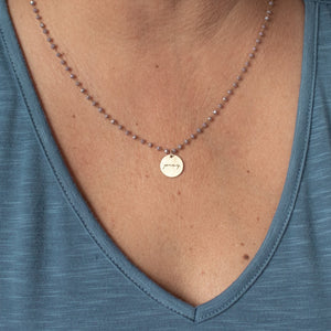 Serenity Stone Lilac Necklace