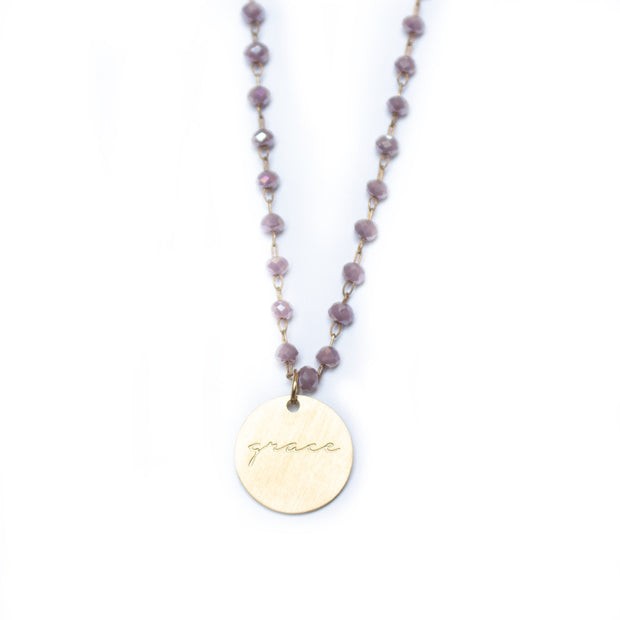 Serenity Stone Lilac Necklace 1