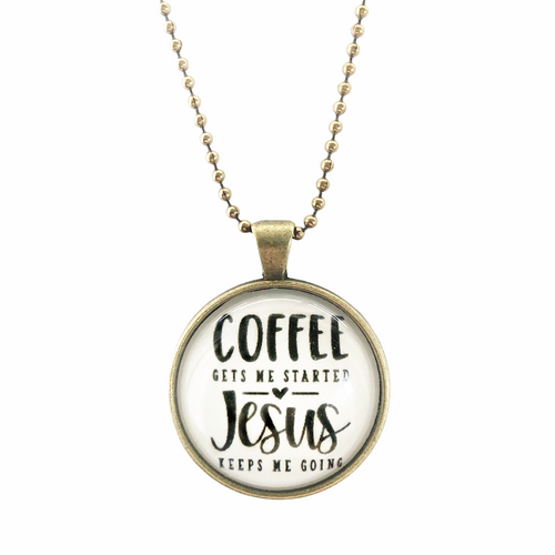 Coffee & Jesus Necklace