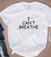 I Can't Breathe White tee (Unisex fit)