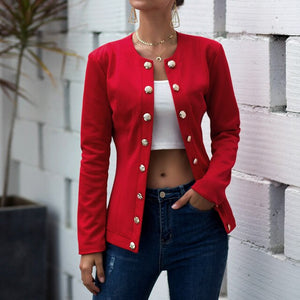 Double-breasted Blazer Long Sleeve Jacket