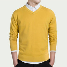 Load image into Gallery viewer, Men's Cotton Business V-neck Sweater