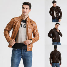 Load image into Gallery viewer, Motorcycle Leather Jacket
