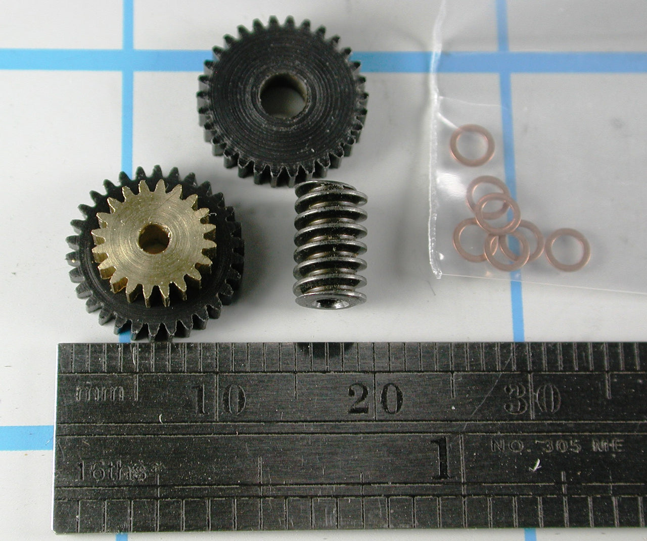 Regear Set 2.0mm Shaft motor MDC Compound Gear KIT 45-1