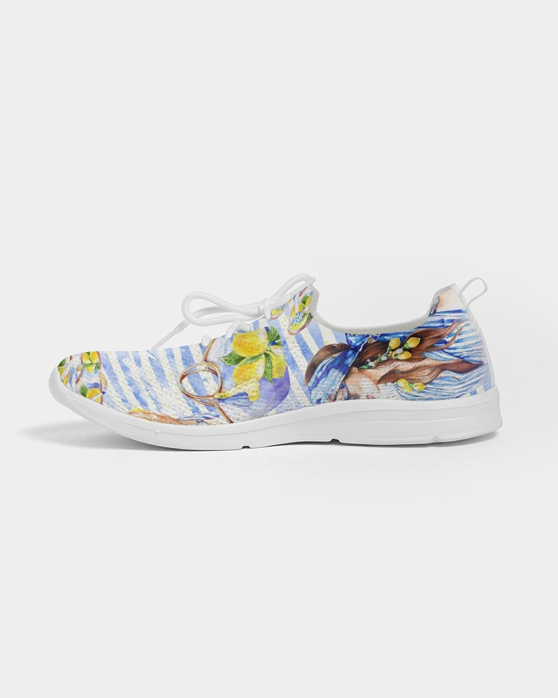 Lemons Fashion Women's Lace Up Flyknit Shoe