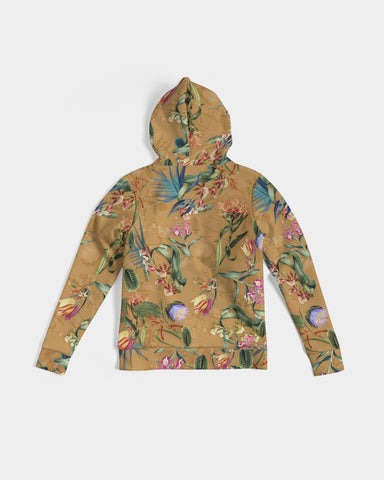 Retro Flowers Pattern Women's Hoodie