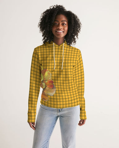 Yellow Plaid Women's Hoodie