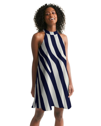Zebra Women's Halter Dress