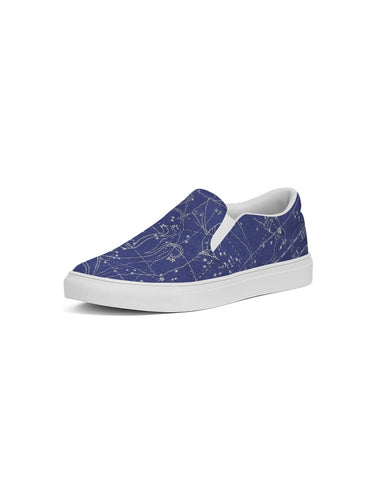 stars map blue Men's Slip-On Canvas Shoe