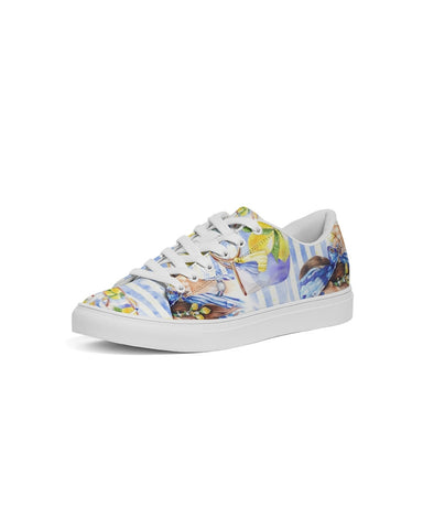 Lemons Fashion Women's Faux-Leather Sneaker