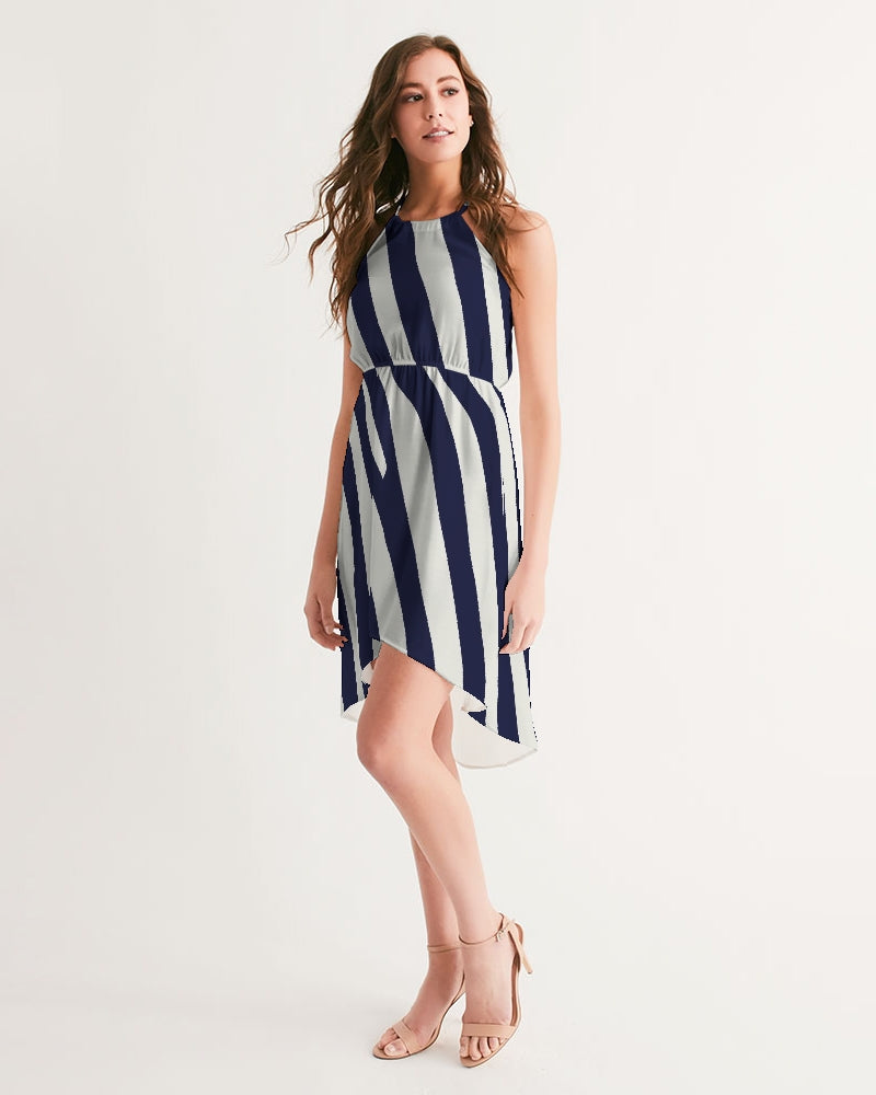 Zebra Women's High-Low Halter Dress