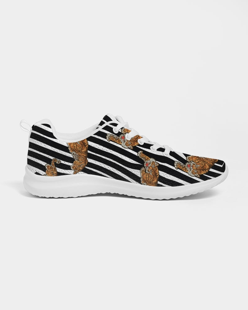 Tiger Print Women's Athletic Shoe