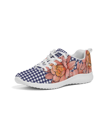 Gingham & Flowers Women's Athletic Shoe