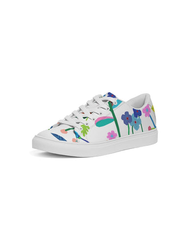 Vibrant Floral Women's Faux-Leather Sneaker