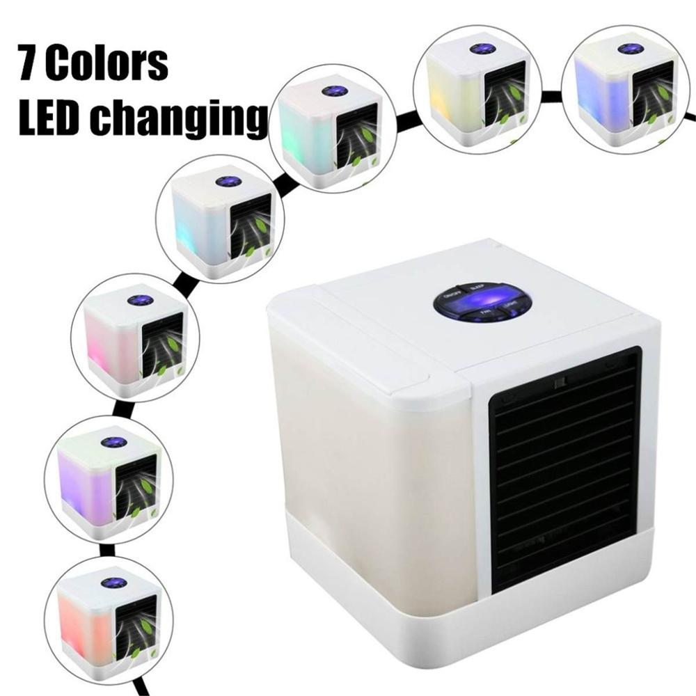 Mini USB Air Conditioner -- Small Evaporative Cooling Table Fan