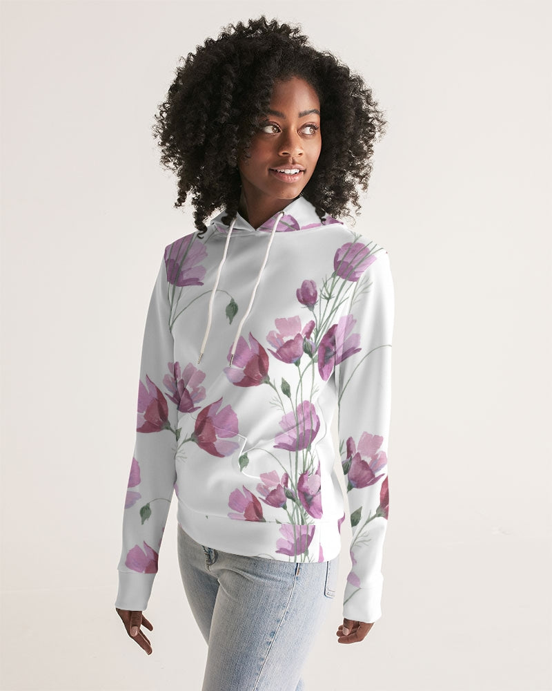 Watercolor Flower purple Women's Hoodie