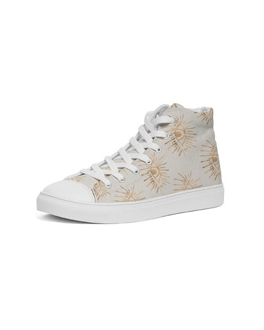 GOLD EYE PRINT Women's Hightop Canvas Shoe