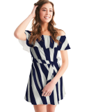 Zebra Women's Off-Shoulder Dress