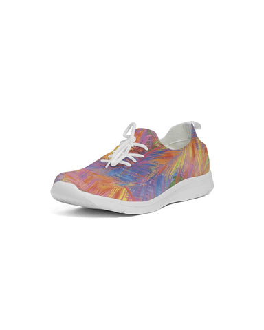 Flolige colorful Women's Lace Up Flyknit Shoe
