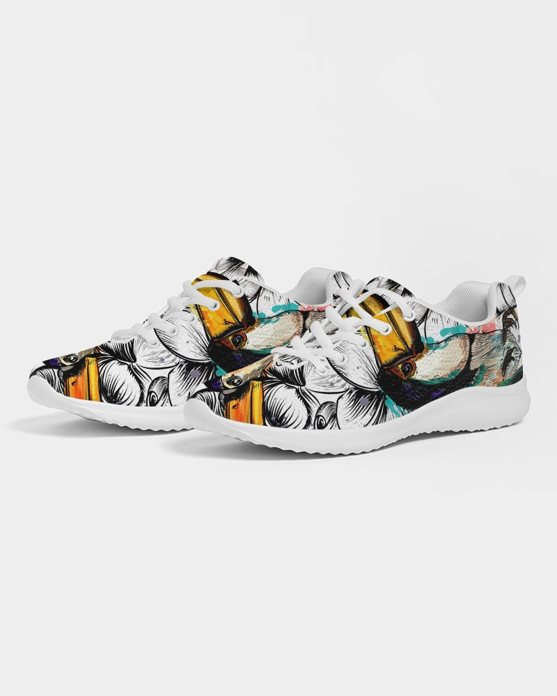 Tropical flowers and toucan birds Women's Athletic Shoe