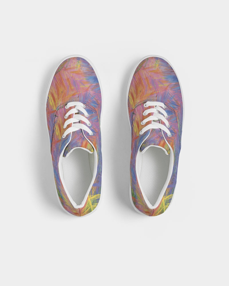 Flolige colorful Women's Lace Up Canvas Shoe