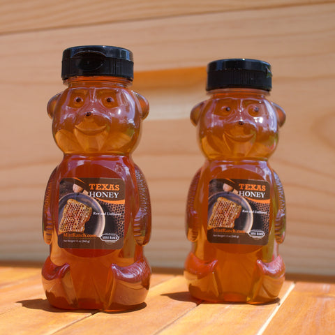 100% Pure, Raw & Unfiltered Texas Cotton Honey 12oz. Squeeze Bottle