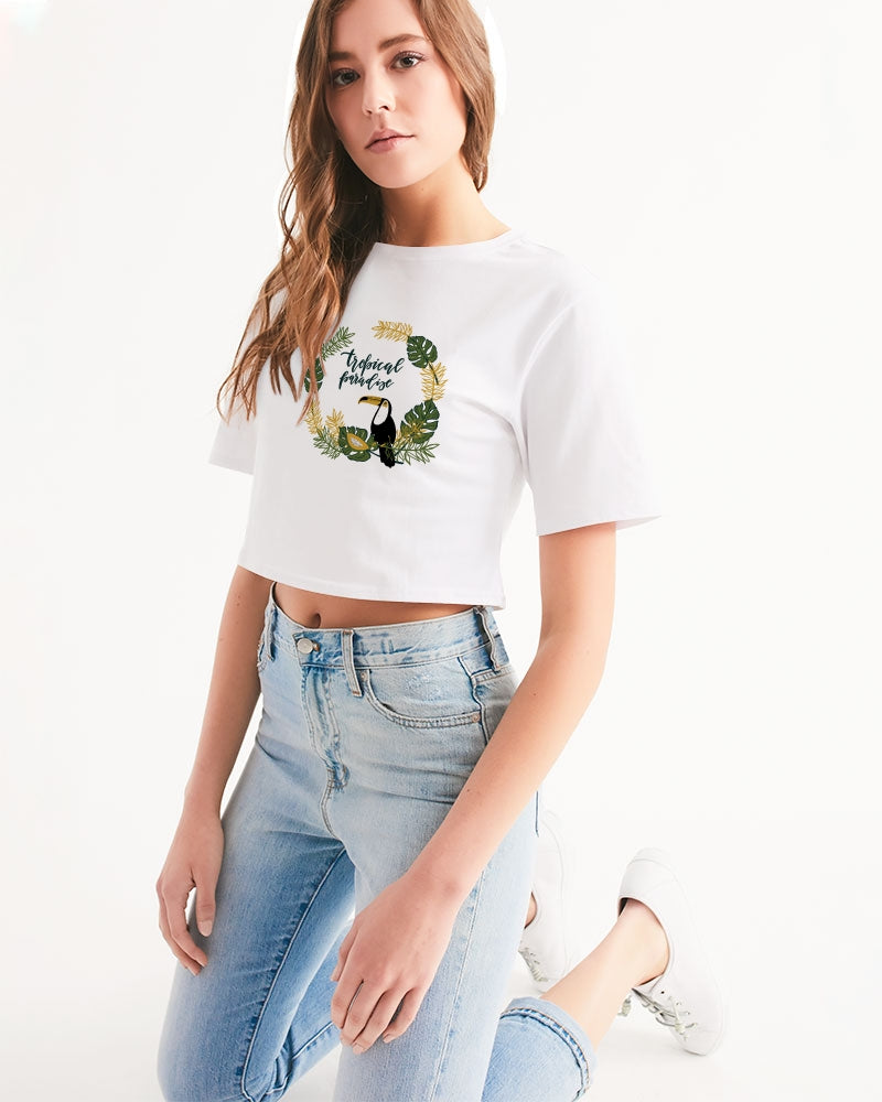 Tropical Women's Cropped Tee