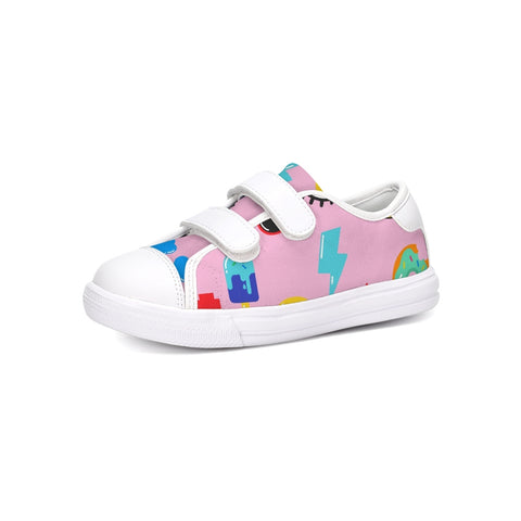kids Patterns pink Kids Velcro Sneaker