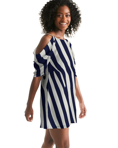 Zebra Women's Open Shoulder A-Line Dress
